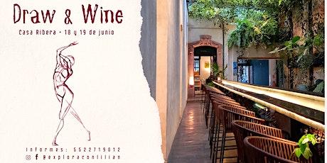 Draw & Wine boletos