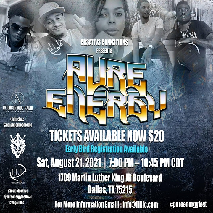 CR3ATIV3 CONN3CTIONS PRESENTS  PURE ENERGY image