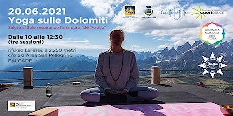 """""""Yoga sulle Dolomiti 2021""""  Saluto al sole respirando l'aria """"dell'Artico"""" biglietti"""