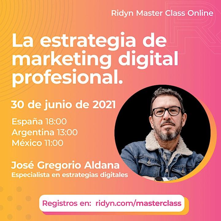 Imagen de RIDYN MasterClass 2021: «La estrategia de marketing digital profesional»
