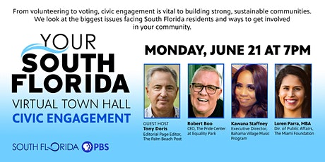 Your South Florida Virtual Town Hall -  Civic Engagement tickets