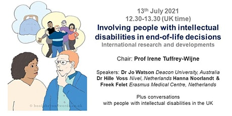Involving people with intellectual disabilities in end-of-life decisions tickets