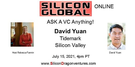 Silicon Global Online: Ask VC David Yuan Anything! tickets