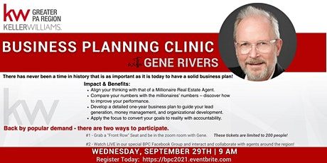 Business Planning Clinic w/Gene Rivers- Virtual! tickets