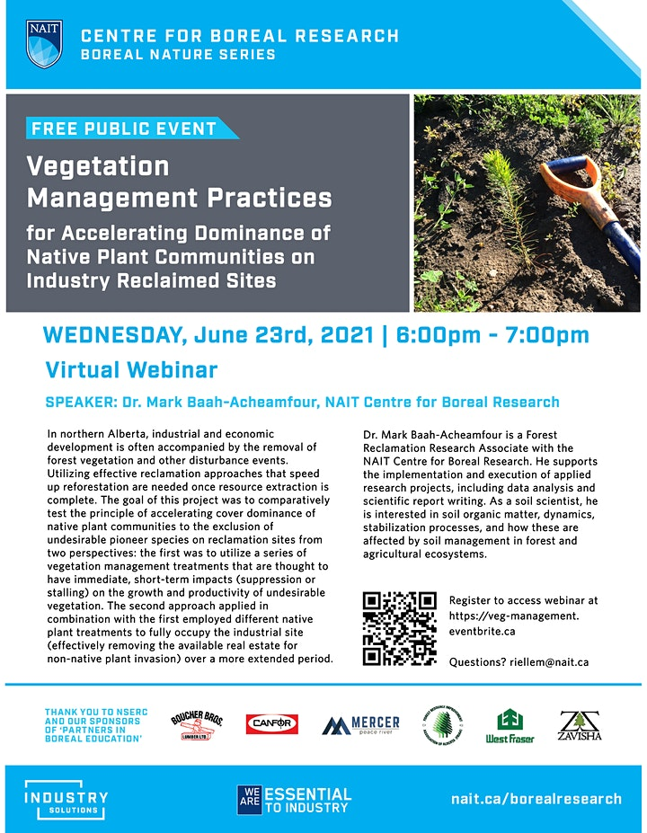 Boreal Nature Series: Vegetation Management for Industry Site Reclamation image