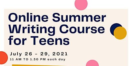 Online Summer Teen Writing Course tickets
