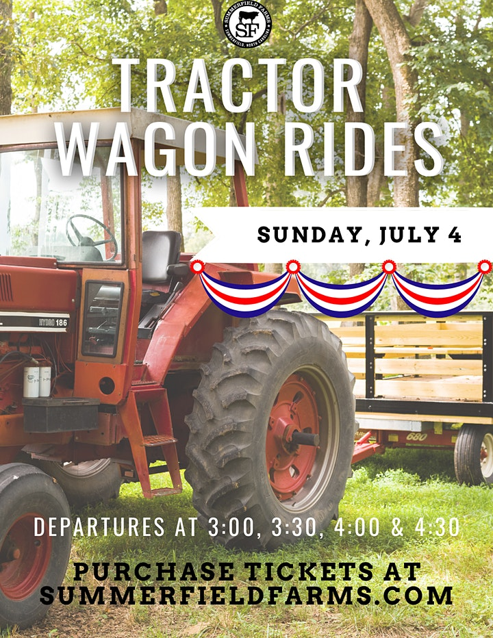 Fourth of July Tractor Wagon Rides image