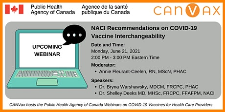 NACI Recommendations on COVID-19 Vaccine Interchangeability tickets