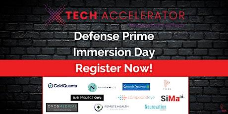 xTech 5 Accelerator - Defense Prime Immersion Day (VIRTUAL) biglietti