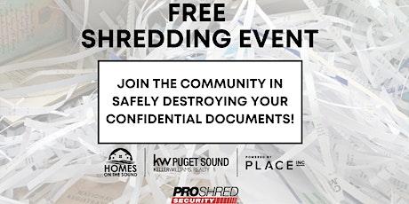 FREE Shredding Event tickets
