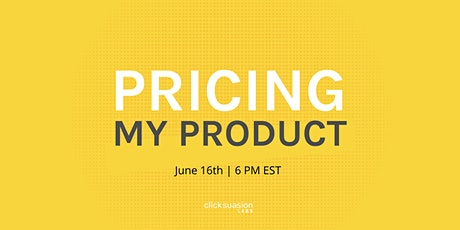 Pricing My Product tickets