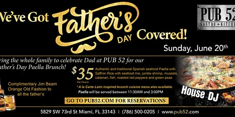 Father's Day Paella Brunch at Pub52 tickets