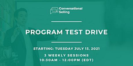 Conversational Selling - Program Test Drive tickets