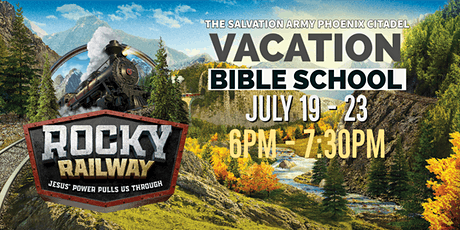 Vacation Bible School - Rocky Railway tickets