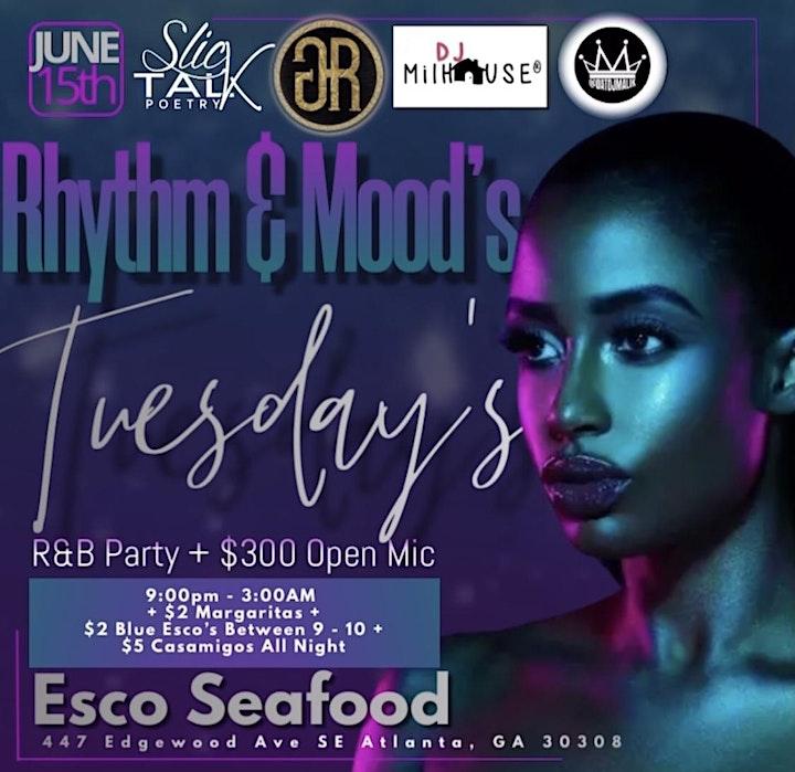 RHYTHM & MOODS  - R&B Party +  $300 Open Mic Night image
