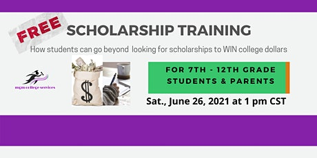 Scholarship Training for Middle to High School Students tickets