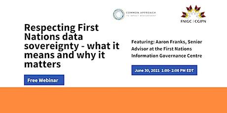 First Nations Data Sovereignty Webinar tickets