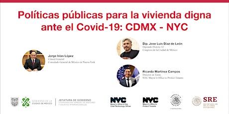 Políticas públicas para la vivienda digna ante el Covid-19: CDMX - NYC entradas