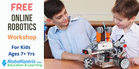 Online Robotics Workshop For Kids - Ages 7+ Years tickets