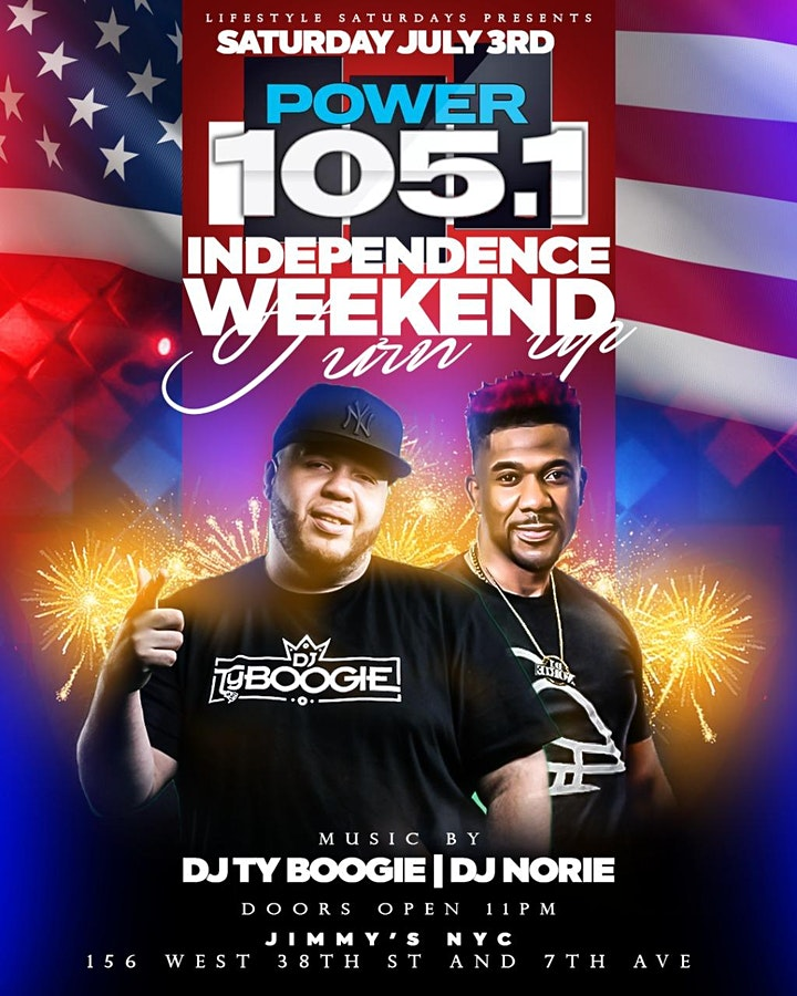 Free Drinks At Lifestyle Saturdays 4th Of July Weekend Inside Jimmys 38 NYC image