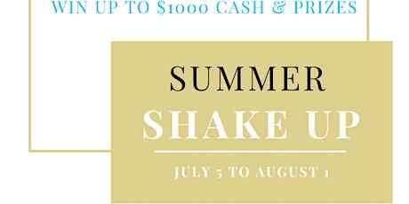 July Summer Shake Up BINGO Accountability Group tickets