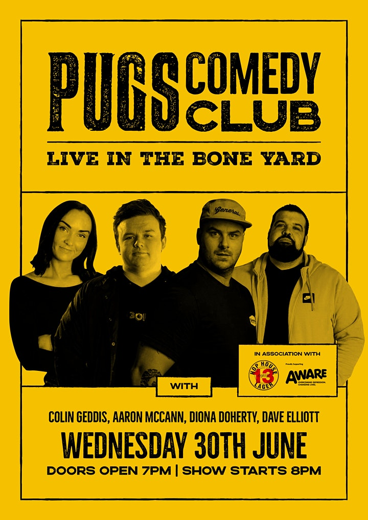 Pugs Comedy Club in association with Aware NI image