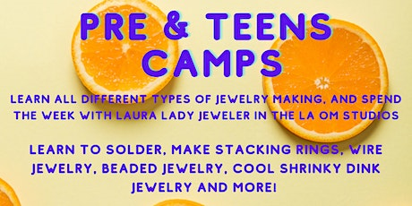 Pre-Teen/Teen Week Long Jewelry Camp: Session 2 tickets