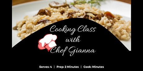 Cooking Class with Chef Gianna tickets