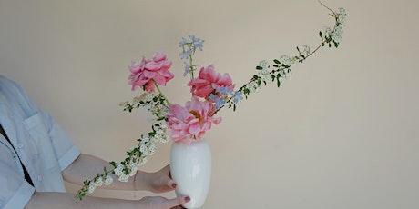 Modern Ikebana Flower Arrangement Workshop and Tea Tasting tickets