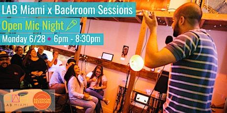 LAB Miami X Backroom Sessions Open Mic Night tickets