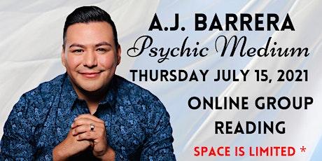 An Evening of Spirit Messages with Psychic Medium A.J. Barrera tickets