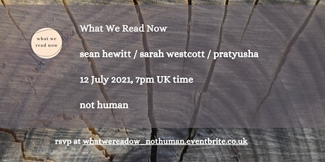 What we read now reading - not human tickets