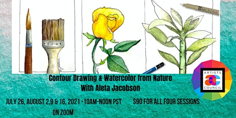 Contour Drawing & Watercolor from Nature tickets