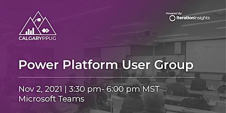 Calgary Power Platform User Group Meeting | November tickets
