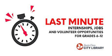 ONLINE: HELP! Last Minute Summer Internship, Job & Volunteer Opportunities tickets