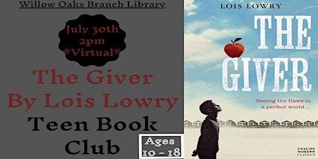 """Teen Virtual Book club discussion - """"The Giver"""" by Lois Lowry tickets"""