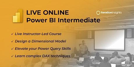 Intermediate Power BI, Data Modeling and DAX   Virtual 2 Day tickets