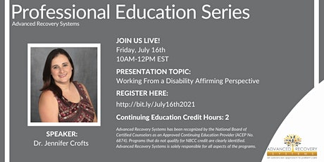 Professional Education Series: Working From a Disability Affirming Perspect biglietti