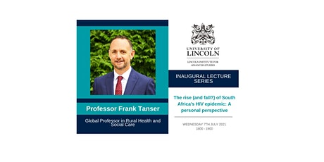 Inaugural Lecture: Professor Frank Tanser tickets