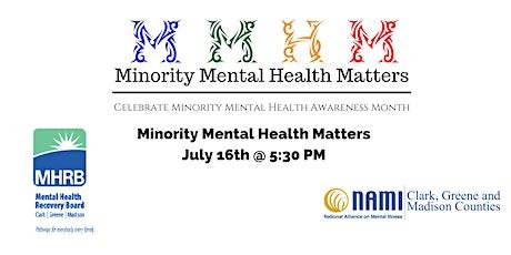 Minority Mental Health Matters tickets
