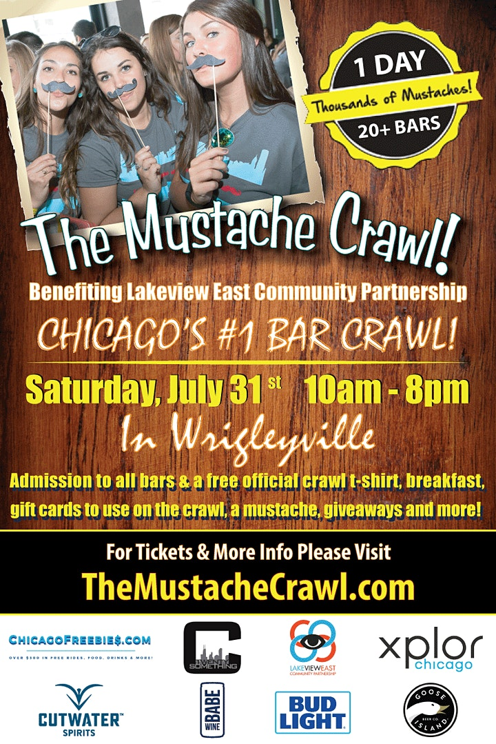 The Mustache Crawl - Chicago's Favorite Bar Crawl image