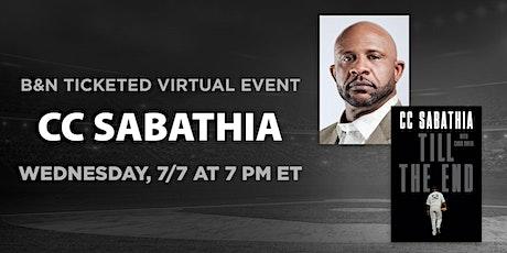 B&N Virtually Presents: CC Sabathia to discuss TILL THE END tickets