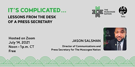 It's Complicated – Lessons Learned from the Office of the Press Secretary tickets