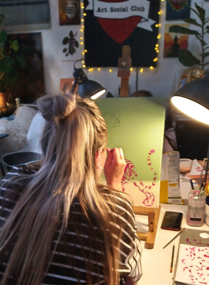 Floral Botanical Painting Workshop - no art experiences needed image