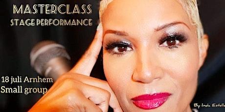Masterclass Stage Performance Vocalisten  van Linda Estelle tickets