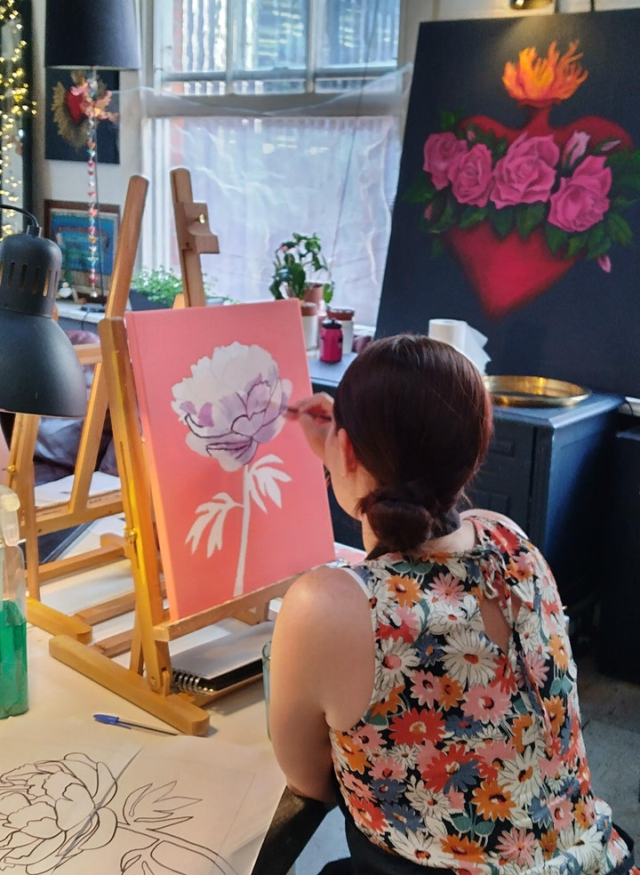 Meditating Buddah Painting Workshop - no art experience needed image