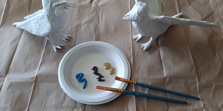 Summer Swallows - Paint your own papier-mâché bird tickets