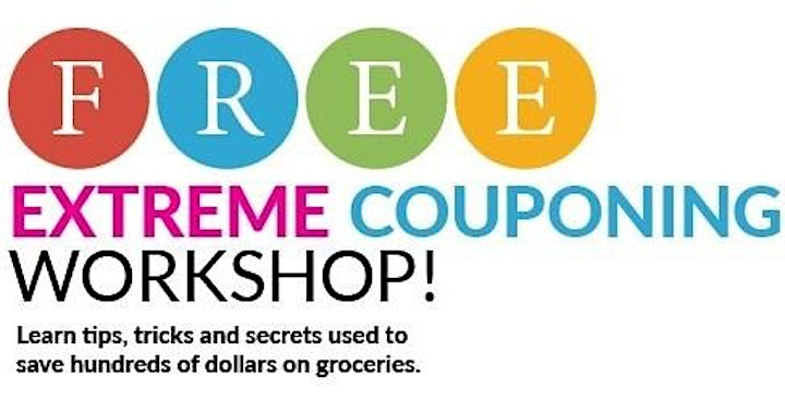 FREE Virtual Coupon Class on Thursday, July 22, 2021 at 1:00pm!! image