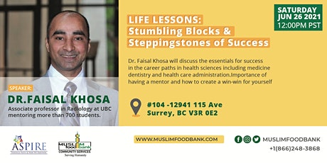 Life Lessons: Stumbling Blocks & Steppingstones of Success tickets