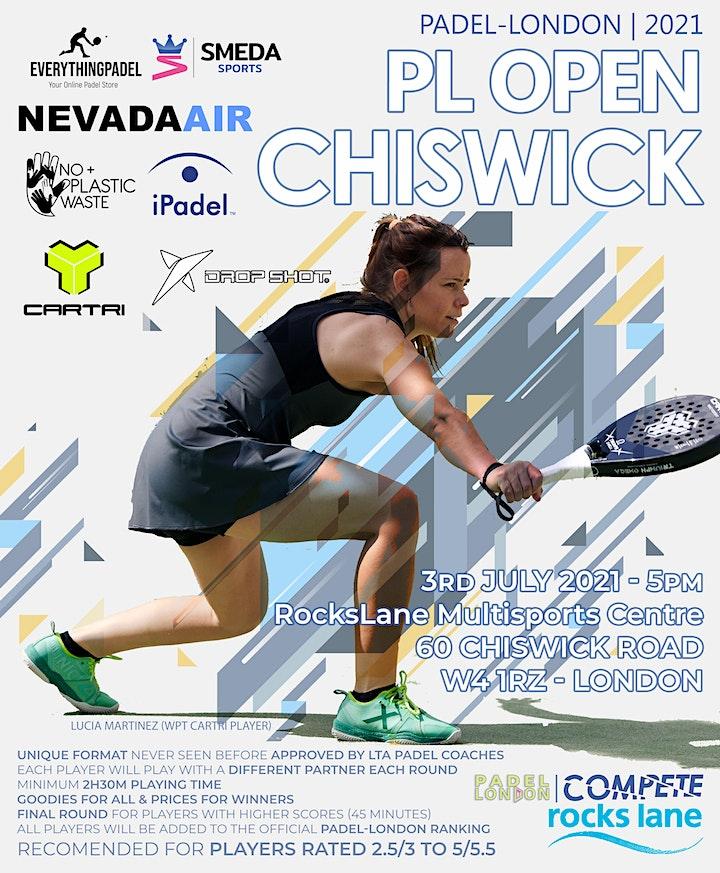 Padel-London Open Chiswick - 3rd July 2021 image